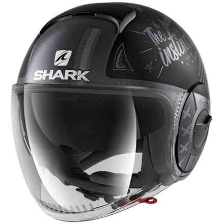 Casco Nano tribute RM opaco nero antracite argento Shark