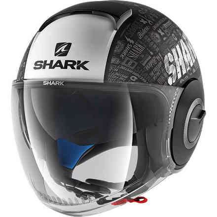 Casco Nano Tribute Rm Opaco Nero-bianco-antracite Shark