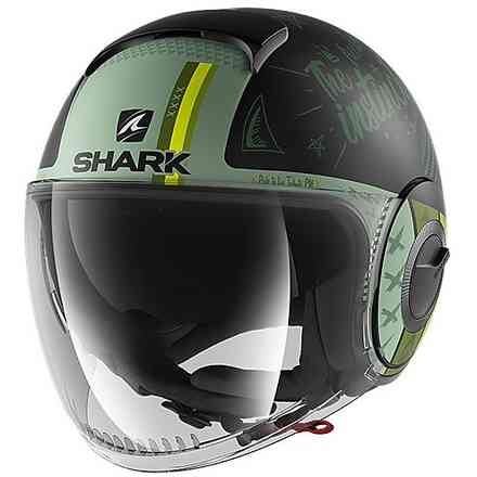 Casco Nano Tribute RM opaco nero verde Shark