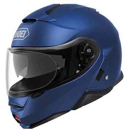 Casco Neotec II blu metallizzato Shoei