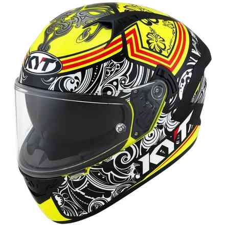 Casco Nf-R Steel Flower giallo KYT
