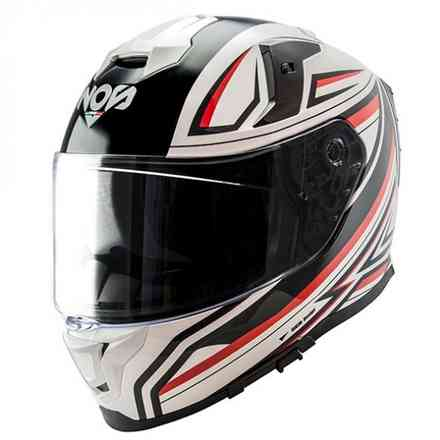 Casco Ns-10 Full Face Fastback Bianco NOS