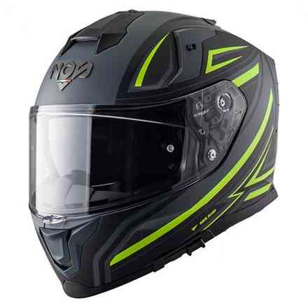 Casco Ns-10 Full Face Fastback Fluo Giallo NOS