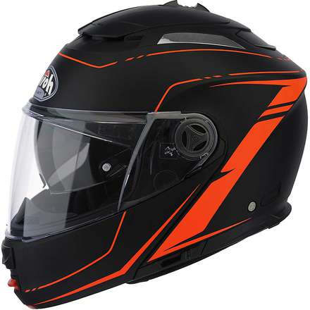 Casco Phantom Lead arancio Airoh