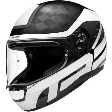 Casco R2 Carbon Cubature Bianco Schuberth