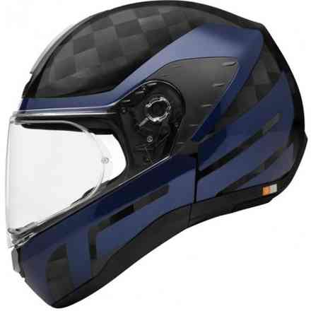 Casco R2 Carbon Cubature Blu Schuberth