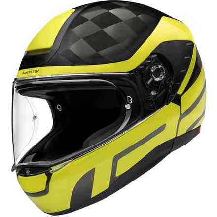 Casco R2 Carbon Cubature Giallo Schuberth