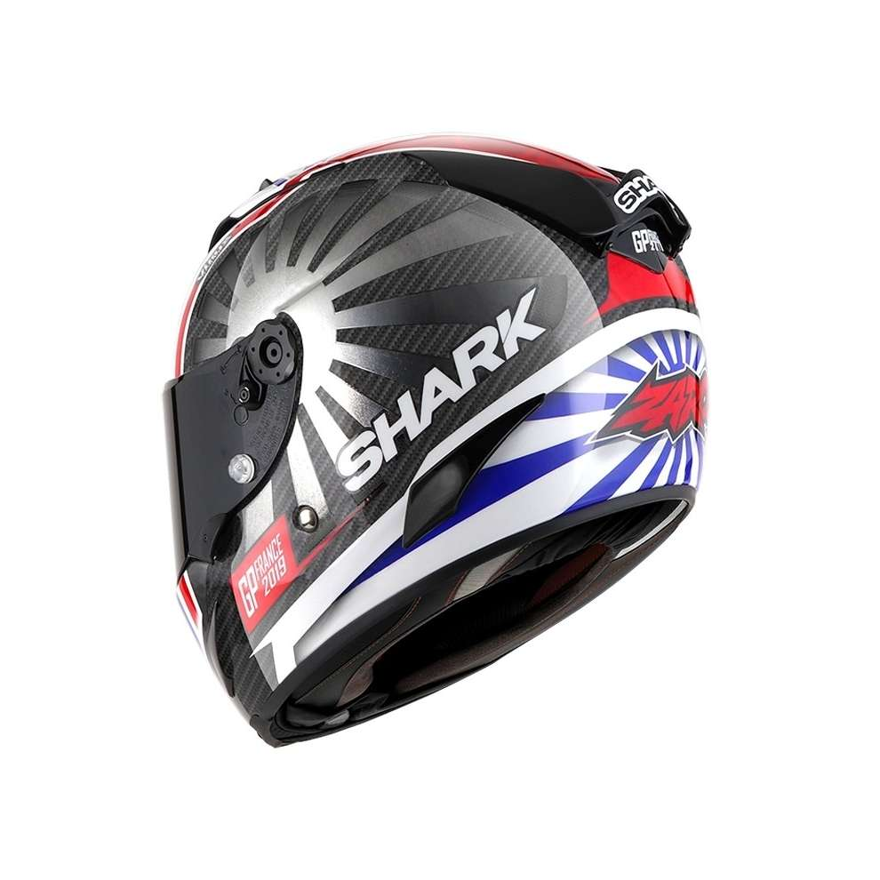Casco Race-R Pro Carbon replica Zarco 2019 gp Francia 2019 carbnio cromato rosso Shark