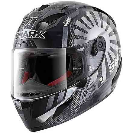 Casco Race-R Pro Carbon replica Zarco gp Francia 2019 carbonio cromato antracite Shark