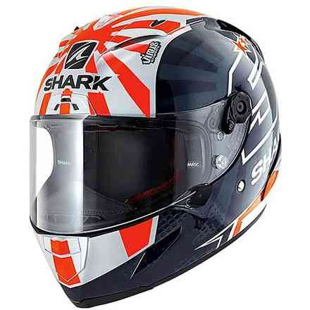 Casco Race-R Pro replica Zarco 2019 blu bianco arancio Shark