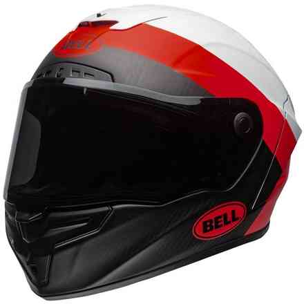 Casco Race Star Surge Matte/Gloss Bianco Rosso Bell