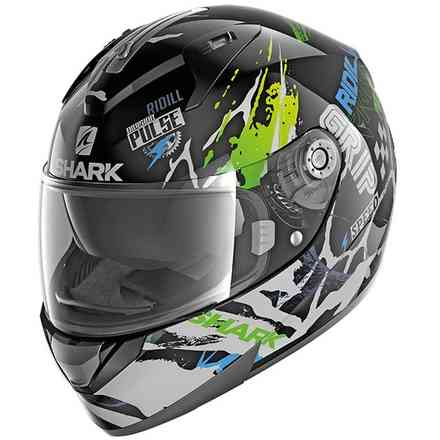 Casco Ridill 1.2 Drift-R Nero-verde-blu Shark