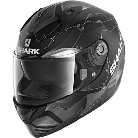 Casco Ridill 1.2 Drift-R opaco nero antracite argento Shark