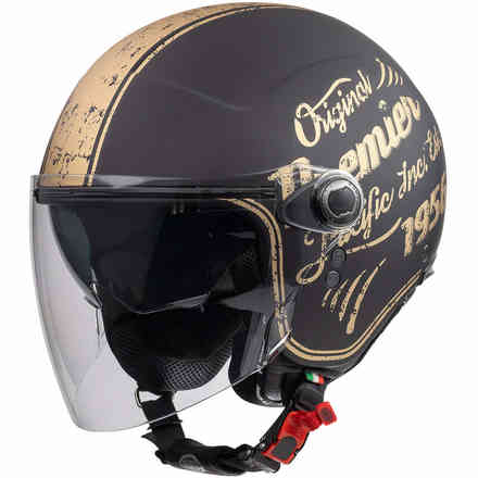 Casco Rocker Visor Or19 Bm Nero Oro Premier