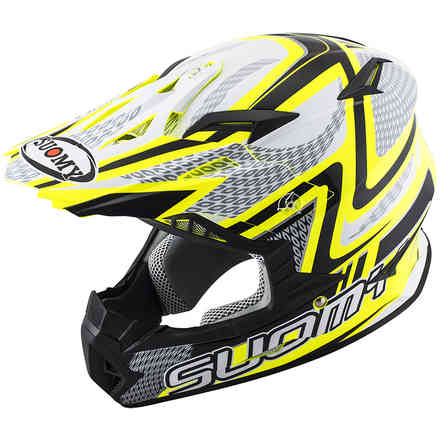 Casco Rumble Snake giallo Suomy