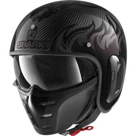 Casco S-Drak Carbon 2 Dragon carbonio antracite Shark