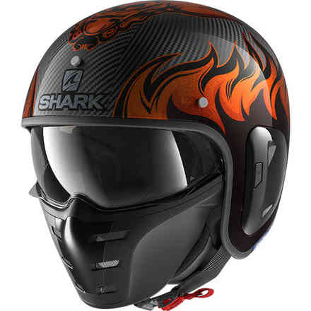 Casco S-Drak Carbon 2 Dragon carbonio arancio Shark