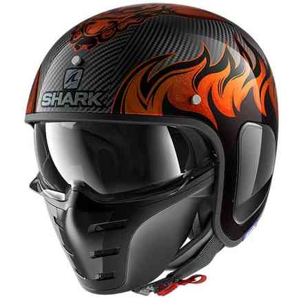 Casco S-Drak Carbon Dagon Carbonio-arancio Shark