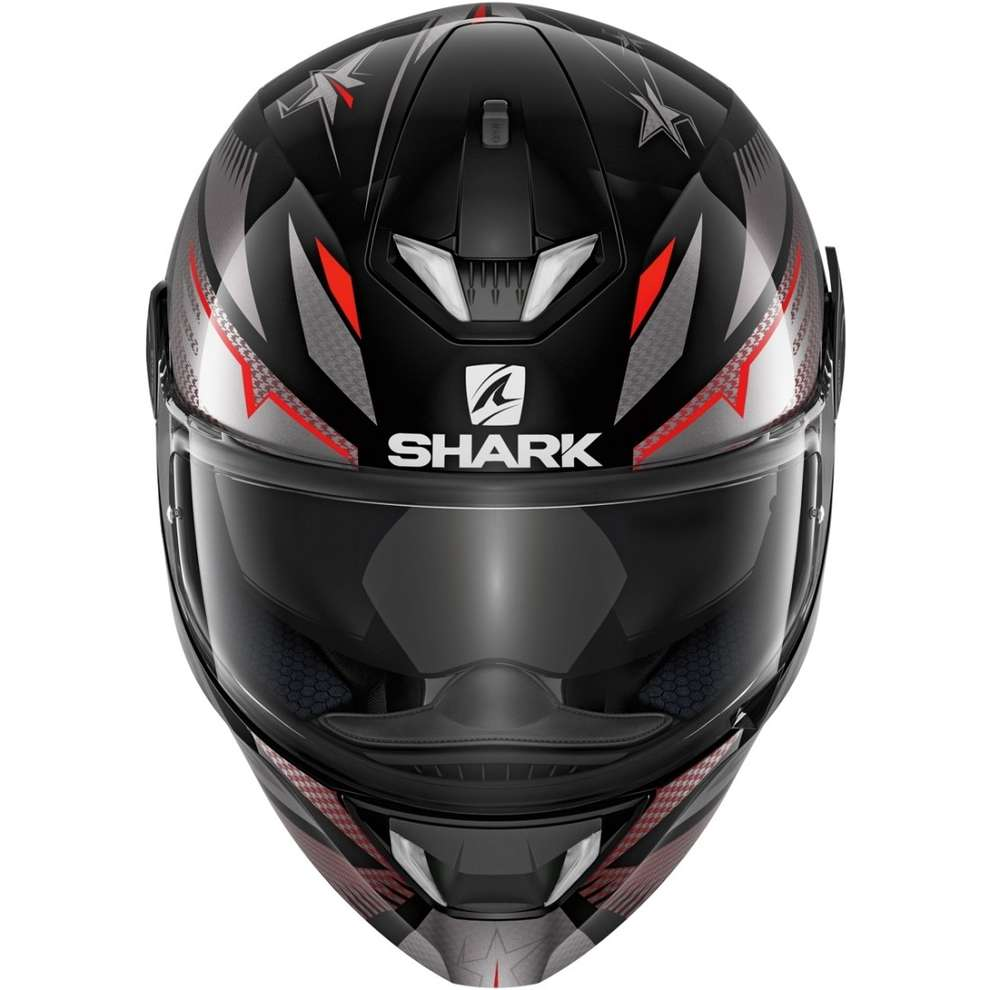 Casco Skwal 2.2 Draghal nero antracite rosso Shark