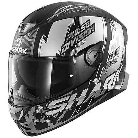 Casco Skwal 2.2 Noxxys nero antracite argento opaco Shark