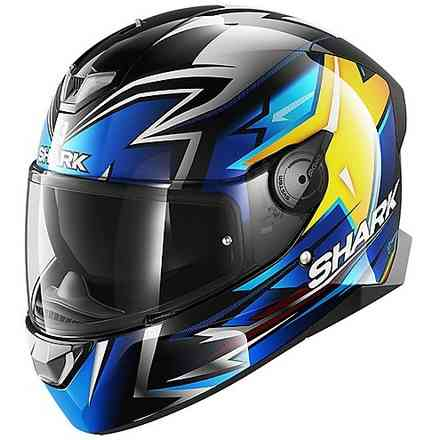 Casco Skwal 2.2 replica Oliveira 2018 nero blu giallo Shark