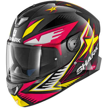 Casco Skwal 2 Draghal Fuxia-giallo Shark
