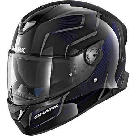 Casco Skwal 2 Flynn Nero-antracite-blu Shark