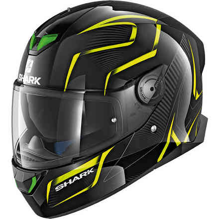 Casco Skwal 2 Flynn Nero-giallo-antracite Shark
