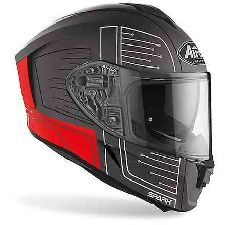 Casco Spark Cyrcuit Rosso Opaco Airoh