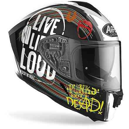 Casco Spark Rock'N'Roll Nero Gloss Airoh