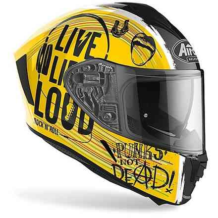 Casco Spark Rock'N'Roll Oro Gloss Airoh
