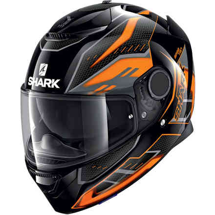 Casco Spartan 1.2 Antheon nero arancio nero Shark