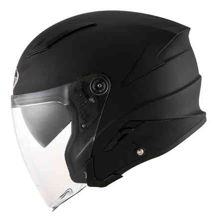 Casco Speedjet Plain Nero Opaco Suomy