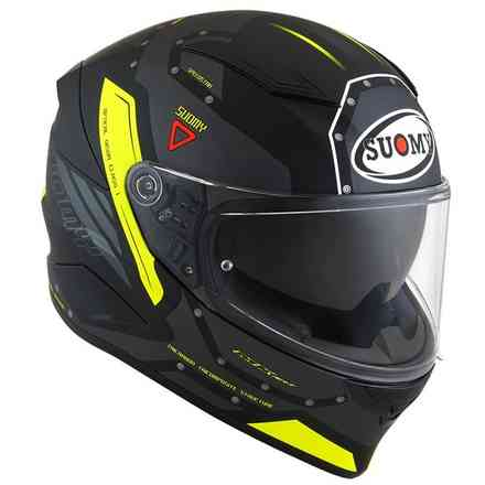 Casco Speedstar Airplane Matt Grigio/Giallo Suomy