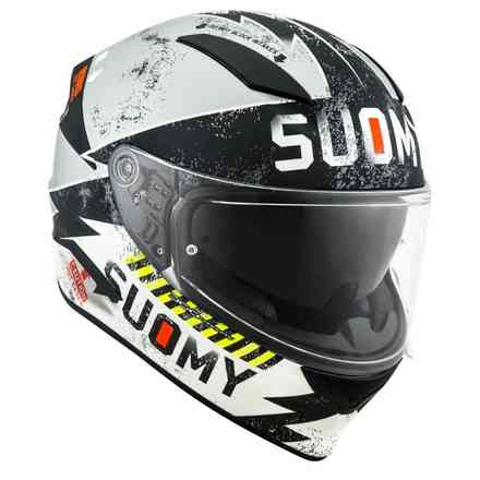 Casco Speedstar Propeller Matt argento nero Suomy