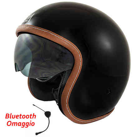 Casco Sport Solid Black + Bluetooth Omaggio LEM