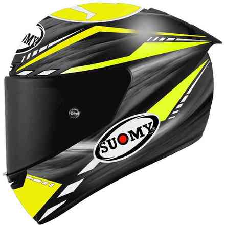 Casco Sr-Gp On Board Nero Giallo Fluo Suomy