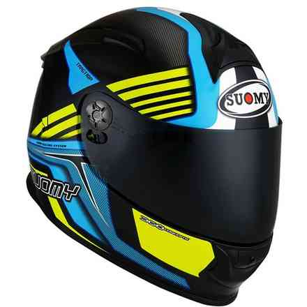 Casco Sr-Sport Attraction Light Blu/Giallo Suomy