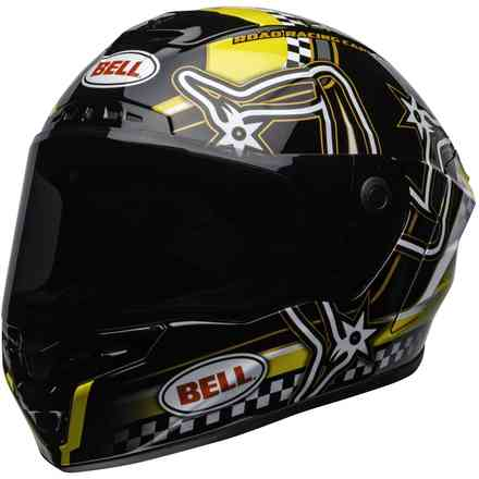 Casco Star Dlx Mips Isle Of Man Nero Giallo Bell