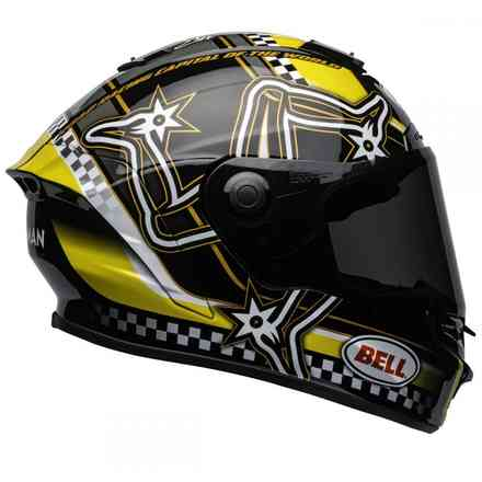 Casco Star Mips Black Yellow Isle of Man Bell