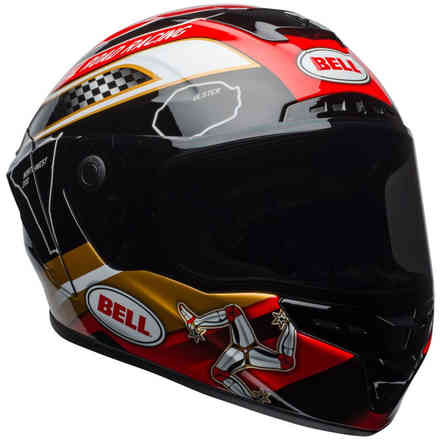 Casco Star Mips Isle Of Man Nero Oro Bell