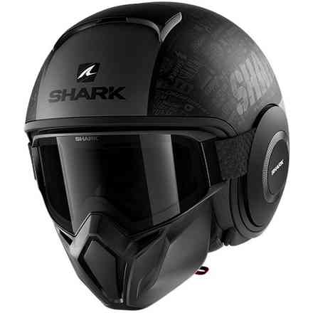 Casco Street Drak Tribute Opaco nero-antracite Shark