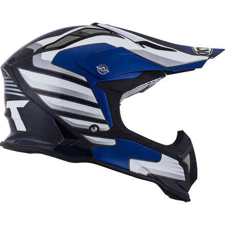 Casco Strike Eagle Wings Bianco Blu KYT