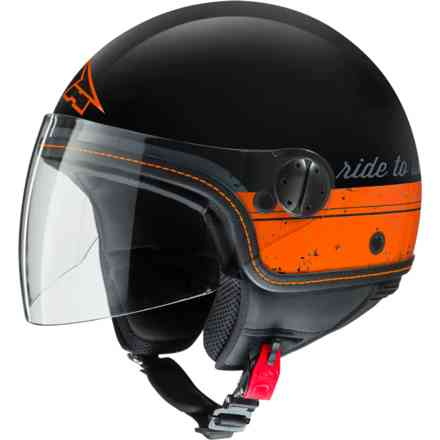 Casco Subway Top nero arancio Axo