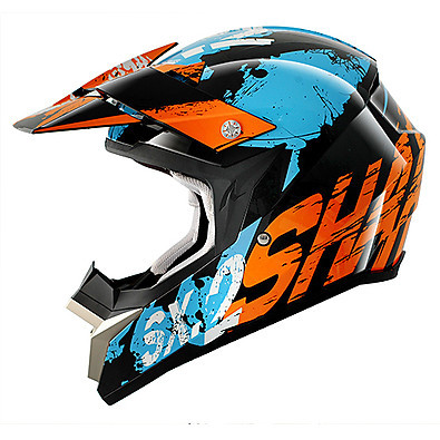 Casco SX 2 Freak Nero/Arancio/Blu Shark