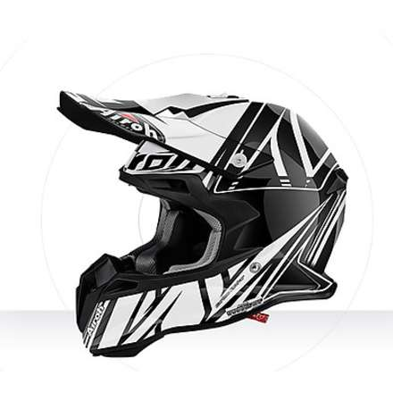 Casco Terminator 2.1 Cut black gloss Airoh