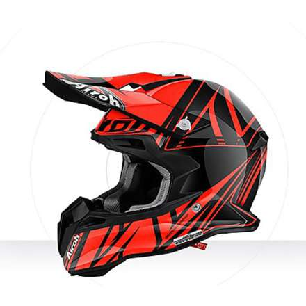 Casco Terminator 2.1 Cut orange gloss Airoh