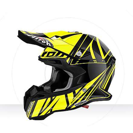 Casco Terminator 2.1 Cut yellow gloss Airoh