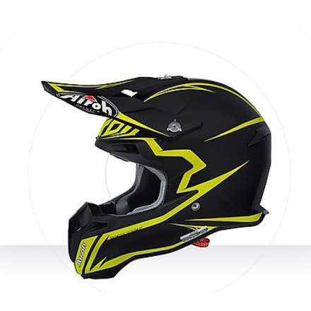 Casco Terminator 2.1 Fit yellow matt Airoh