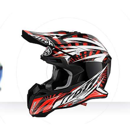 Casco Terminator 2.1 Lightning orange gloss Airoh